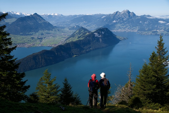 View from Mt. Rigi across Lake Lucerne