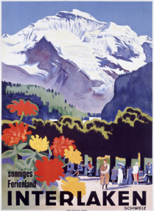 Interlaken Vintage Poster