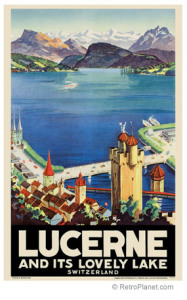 Lucerne and its lovely lake Vintage Poster