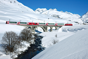 Glacier Express Train in Switzerland