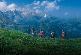 Hikers in the Bernese Oberland