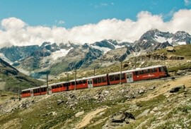 Swiss scenic train