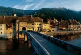 Typical village in Jura