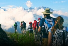 Hikers along the Haute Route