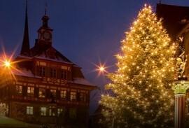 Swiss holiday lighting