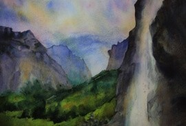 Lauterbrunnen Valley painting