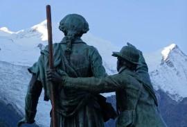 Statue in Chamonix, France