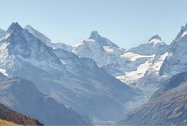 Swiss mountain range along the Haute Route