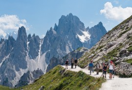 Guided hiking trip in the Italian Dolomites