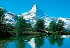 Matterhorn behind a lake