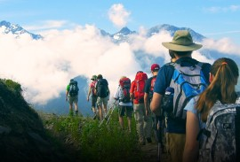 Hikers on the Haute Route