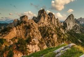 Italian Dolomite mountain range