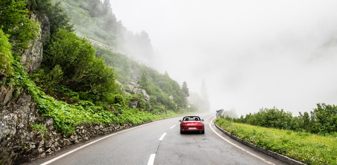 Driving in Switzerland.