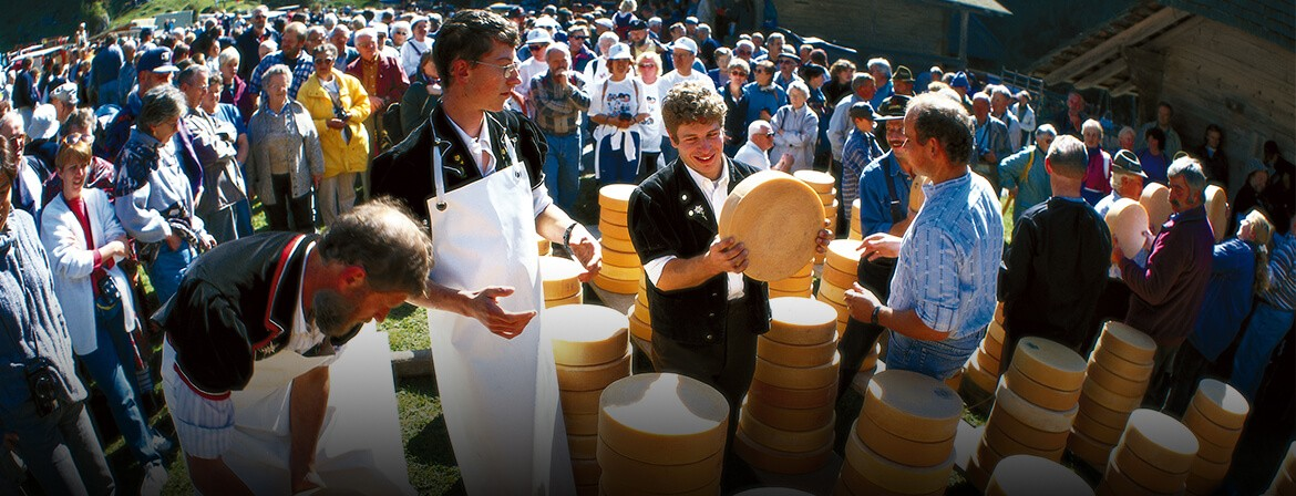 Cheese ceremony in Bernese Oberland.