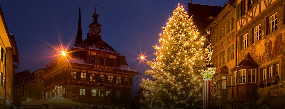 Swiss holiday decorating and Christmas Markets