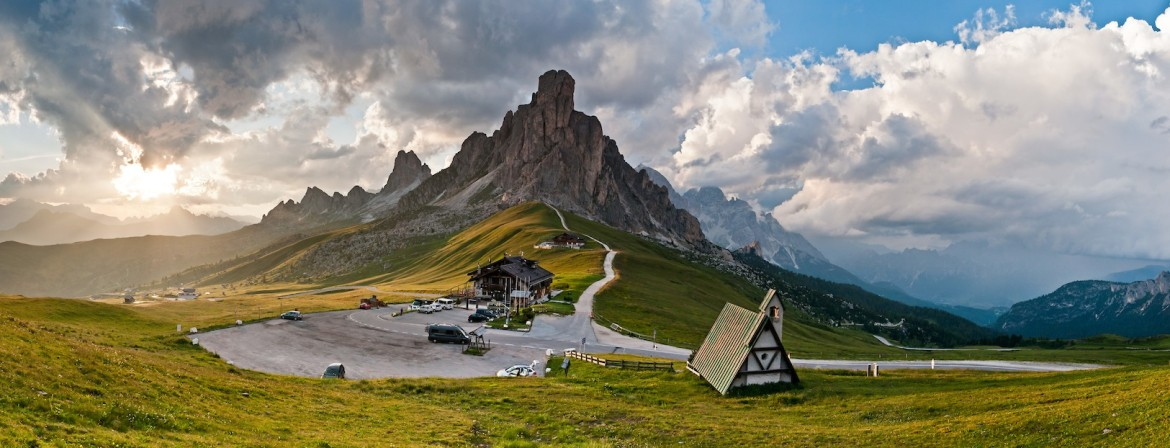 The craggy peaks and verdant valleys of the Dolomites in the Italian Alps is an irresistible hiking destination.
