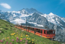train and the alps
