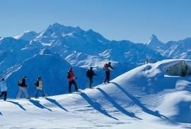 Swiss Alps Winter Hiking Adventure