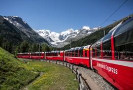 Scenic trains in Switzerland