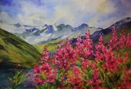 Plein Air Painting in the Alps