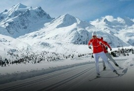 Cross Country Skiing Tour from Engadine to St. Moritz