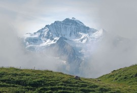 A misty day in the Jungfrau