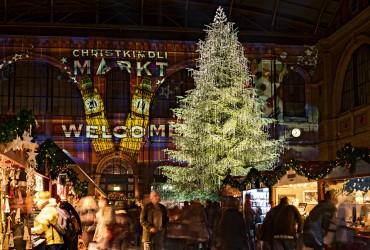 Christmas impressions on Bahnhofstrasse, Zurich.