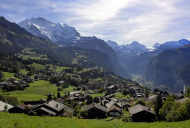 View of the Village Wengen.