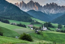 Stunning view in the Dolomites