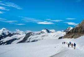 Jungfraujoch, hiking on the Aletschgletscher   Photo by guest Don Bond