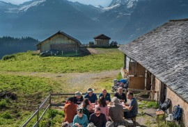 Breakfast at the Cheese Farm in Grindelwald 2018   Photo by guest Don Bond