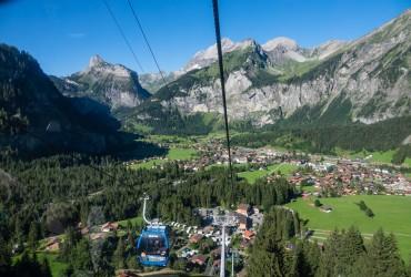 Kandersteg as seen by the gondola lift