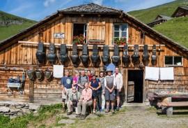 Group at the Eigeralp farmhouse