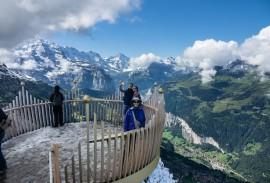 August on Männlichen Royal Walk, above Lauterbrunnen Valley