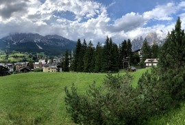 Path overlooking Cortina d'Ampezzo   Photo by Macie Duncan