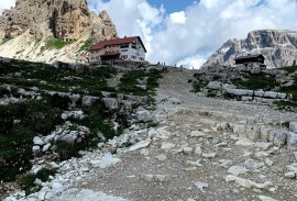 Mountain hut on the Tre Cime loop trail   Photo by Macie Duncan