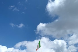 Italian flag in the Dolomites   Photo by Macie Duncan