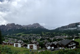 View overlooking Cortina d'Ampezzo   Photo by Macie Duncan