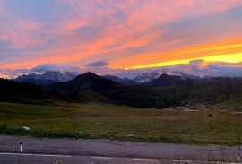 Sunset in the Dolomites   Photo by Macie Duncan