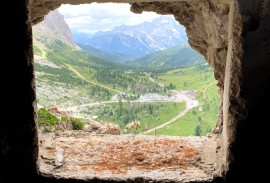 View from World War 1 tunnel in the Dolomites   Photo by Macie Duncan