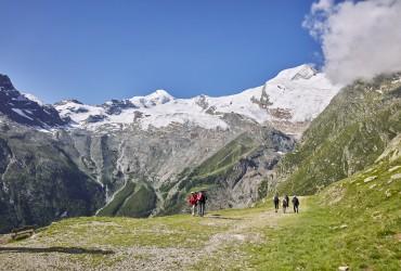 Peaks surround you in Saas-Fee