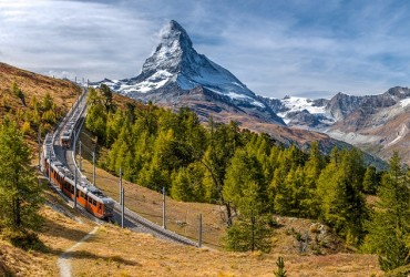 Gornergrat Railway with the Matterhorn