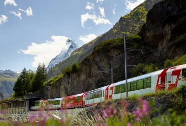 Glacier Express before Zermatt