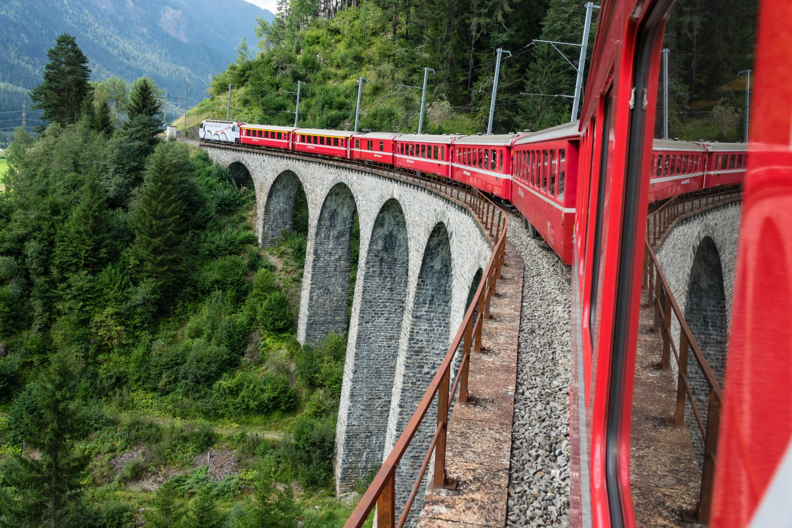 Glacier Express in Swiss Alps