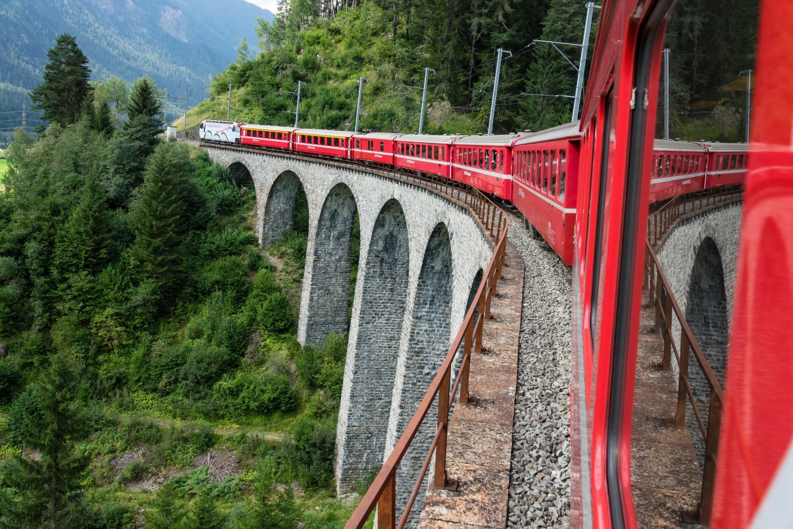 Glacier Express in Swiss Alps