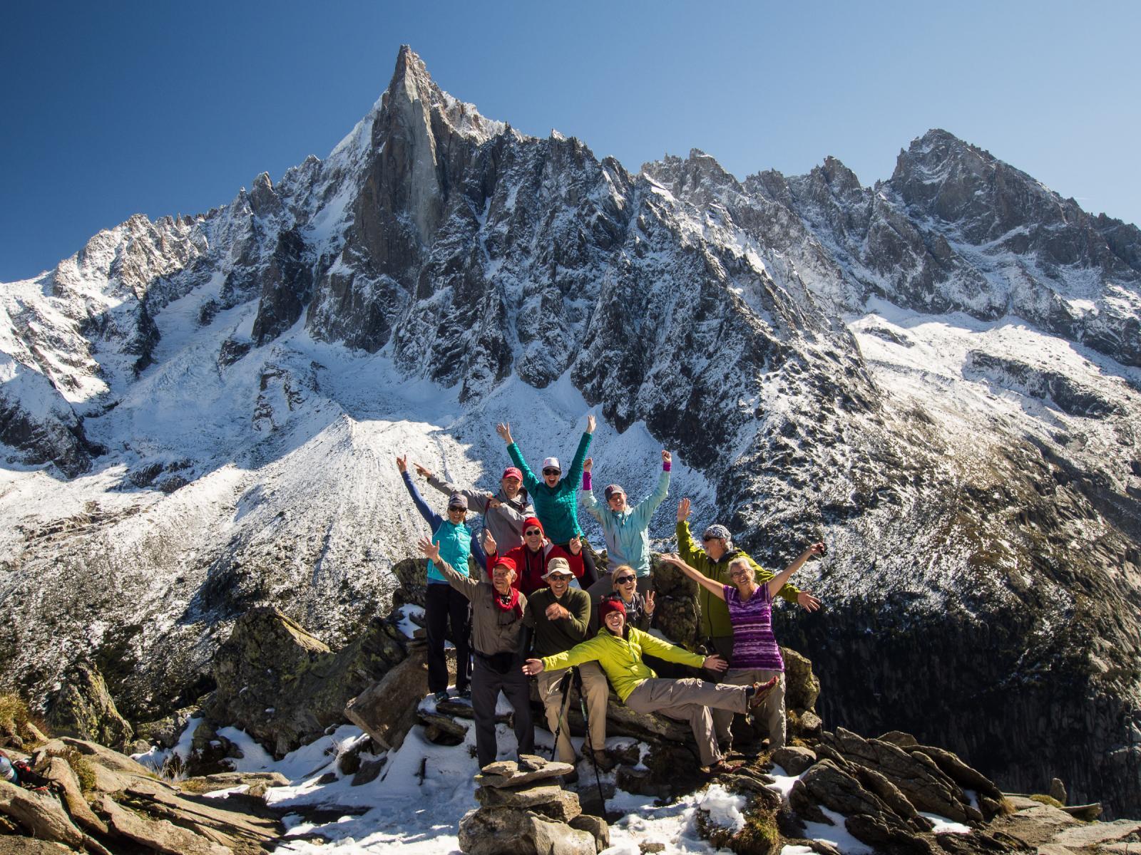 Sunrise on the Tour du Mont Blanc