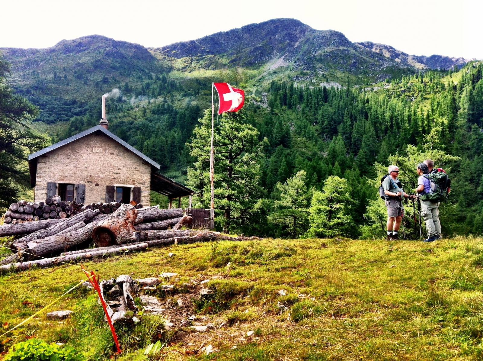 Mountain hut along the Haute Route