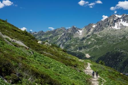 Hiking trail on the Haute Route