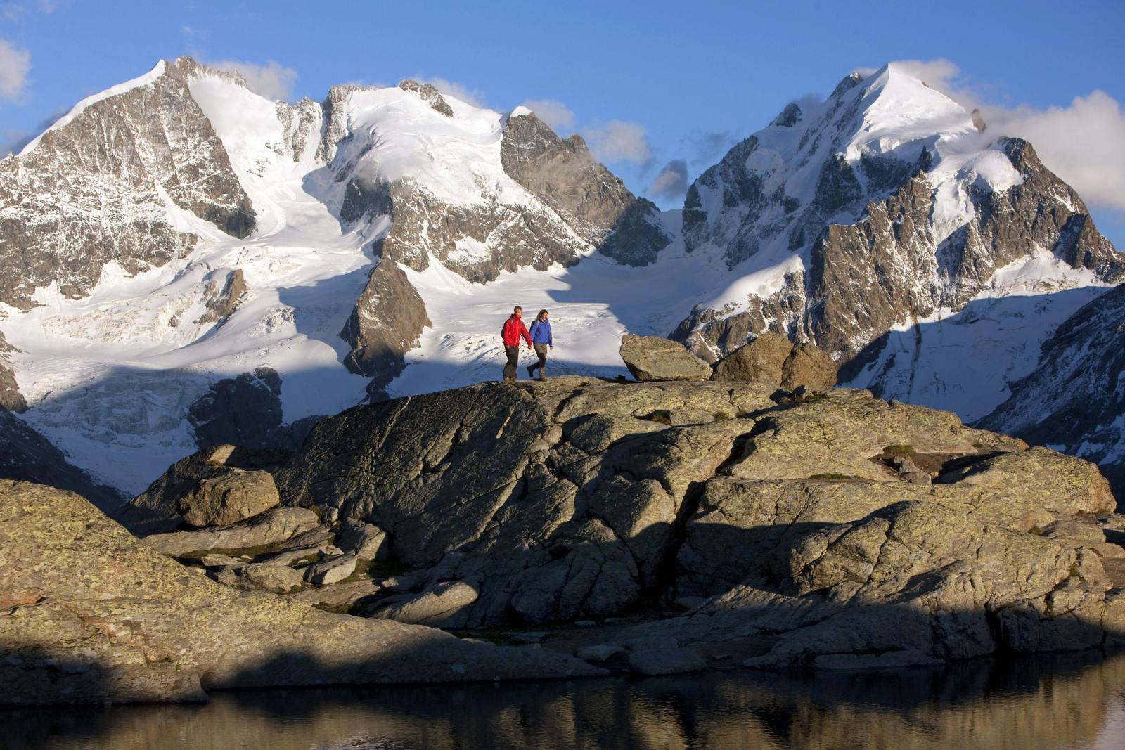 Hiking through the Swiss Alps