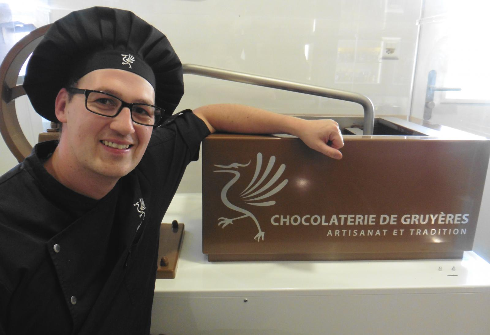 Chocolate maker in Gruyeres